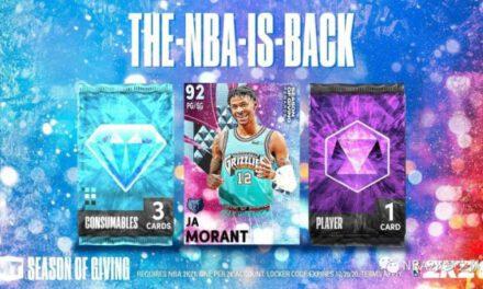NBA2K21-塔圖姆領銜第三賽季卡包及球員卡