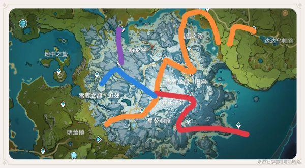 原神-龍脊雪山傳送錨點快速解鎖路線分享 1