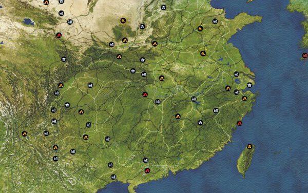 三國群英傳8-各區域據點、探寶點位標注