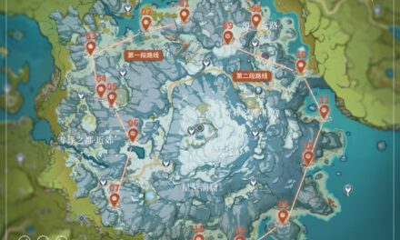 原神-1.2版龍脊雪山星銀礦石採集路線