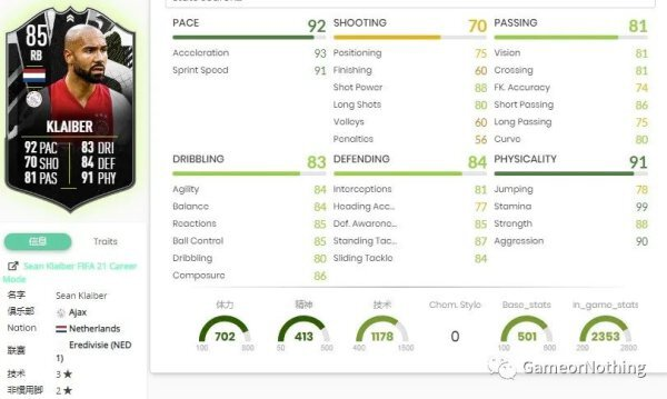 FIFA21-荷甲大決戰SBC作業 Klaiber、Malen、Stones SBC作業 3