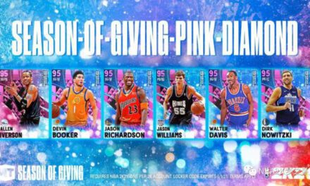 NBA2K21-聖誕節粉鑽儲物櫃代碼