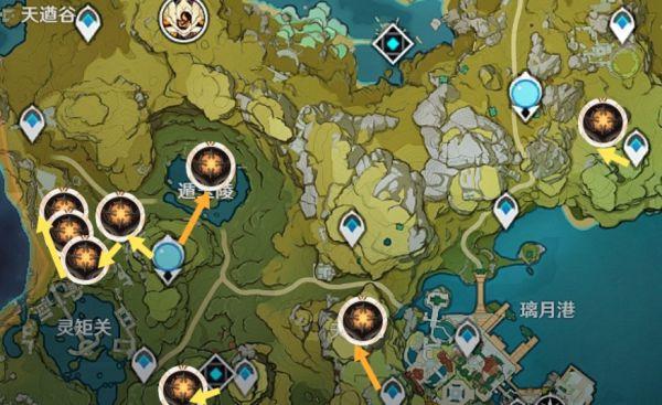 原神-全遺跡守衛討伐地點及路線 9
