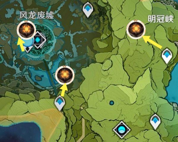 原神-全遺跡守衛討伐地點及路線 1