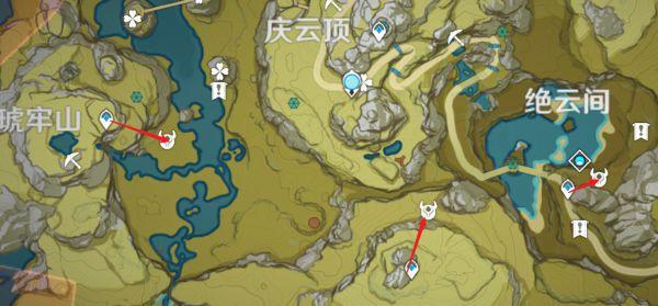 原神-鍾離突破材料採集路線規劃 31