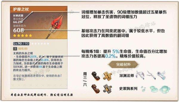 原神-護摩之杖武器強度分析及抽取建議 1