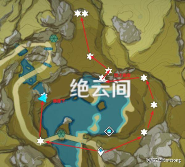 原神-赤團開時UP角色突破材料入手線路 31