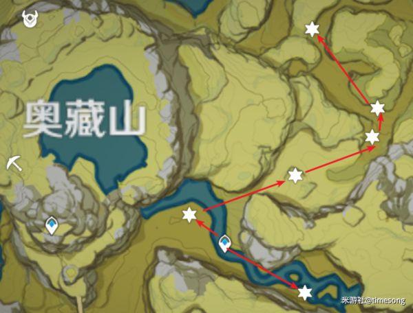 原神-赤團開時UP角色突破材料入手線路 33