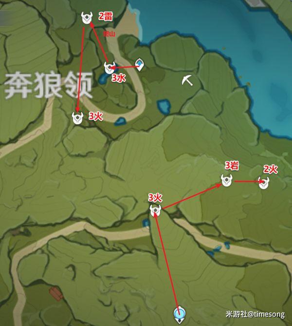 原神-赤團開時UP角色突破材料入手線路 13