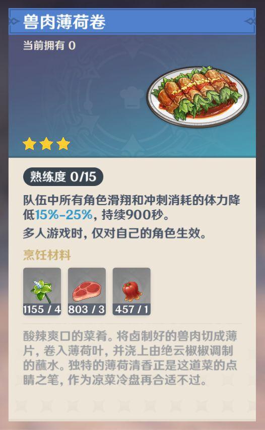 原神-1.4版新增食譜購買地點 7