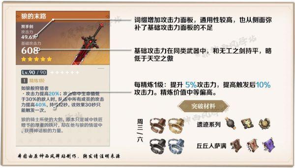 原神-2月23日神鑄賦形武器分析 5