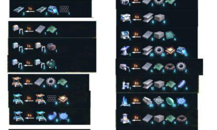 戴森球計劃-全建築合成材料表