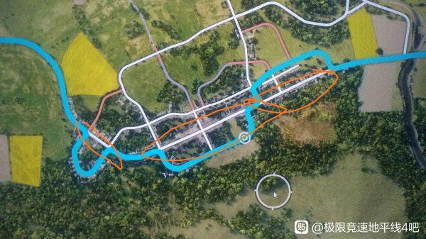 極限競速地平線4-藍圖迎戰巨漢騙人機道路路線 1