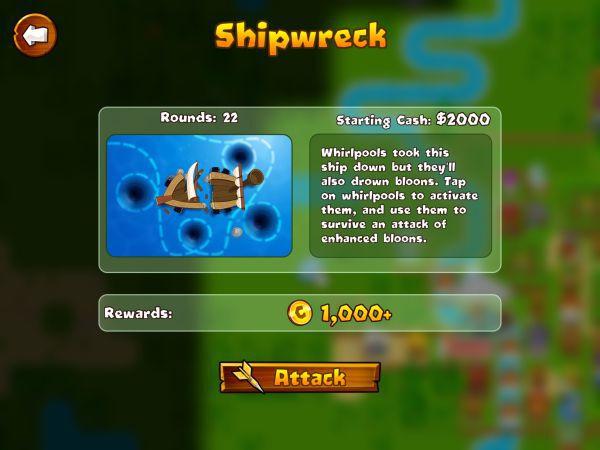 氣球塔防6-shipwreck沉船特任攻略 1