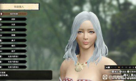 魔物獵人崛起-白色長發小姐姐捏臉數據