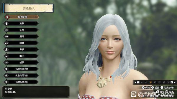 魔物獵人崛起-白色長發小姐姐捏臉數據 21