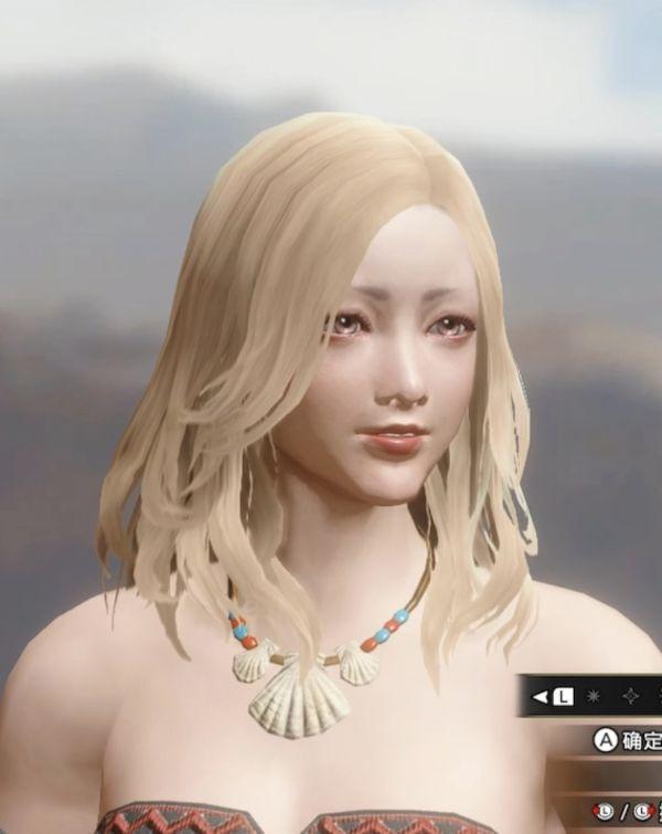 魔物獵人崛起-金發小姐姐捏臉數據參考 15
