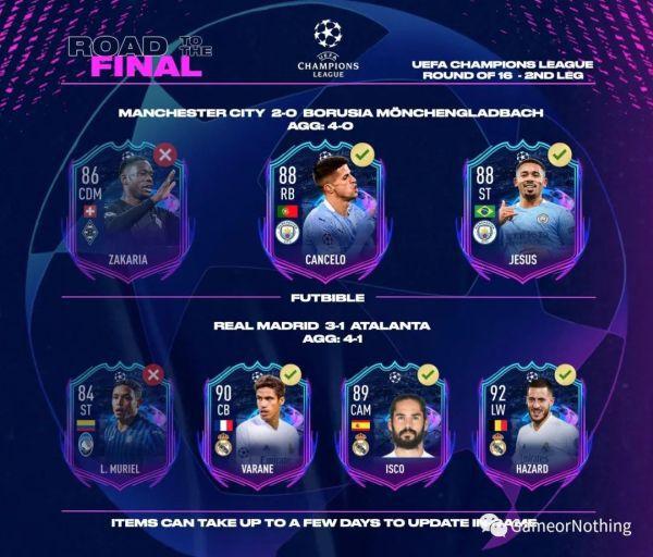 FIFA21-第25周最佳陣容TOTW25 7