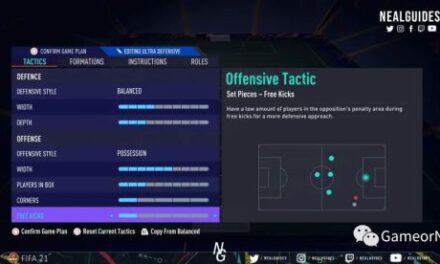 FIFA21-433-3戰術板使用