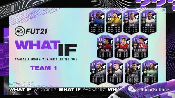 FIFA21-What if假設卡拉菲尼亞SBC作業 1