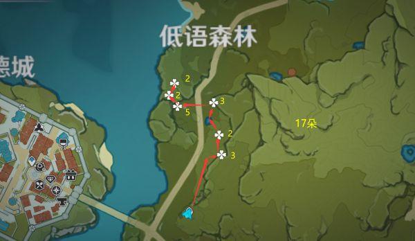 原神-小燈草採集路線規劃 3
