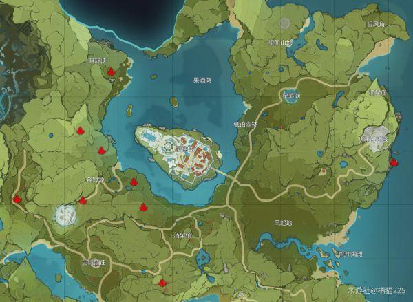 原神-水晶礦與魔晶礦採集分佈 3