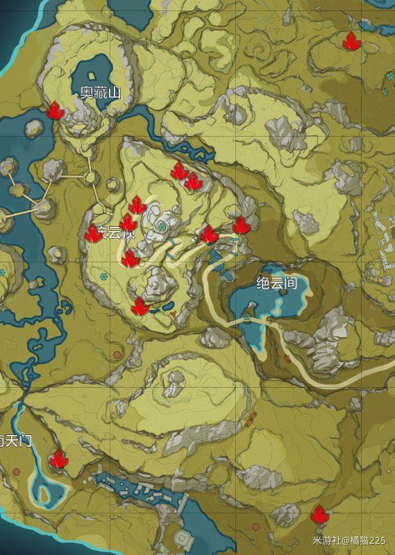 原神-水晶礦與魔晶礦採集分佈 7