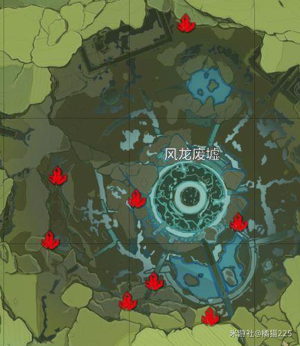 原神-水晶礦與魔晶礦採集分佈 1