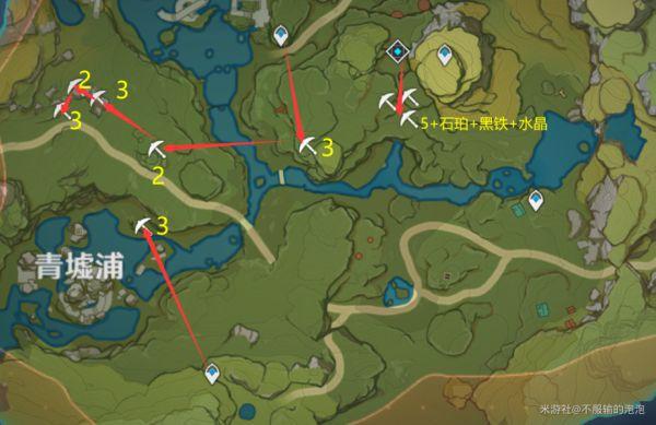 原神-白鐵礦採集地點及路線 13