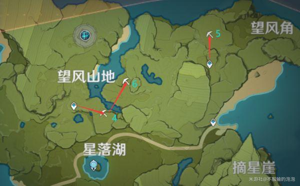 原神-白鐵礦採集地點及路線 1