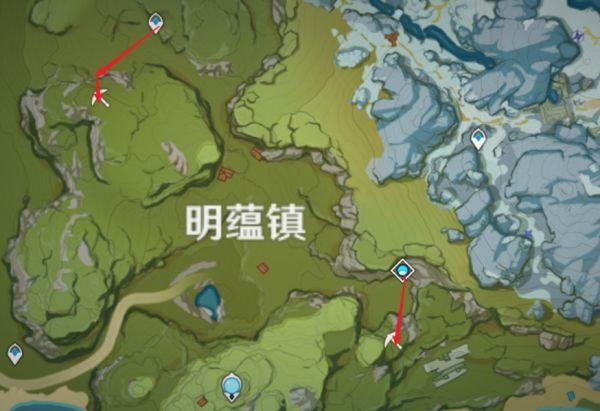 原神-鍾離突破材料採集路線規劃 25