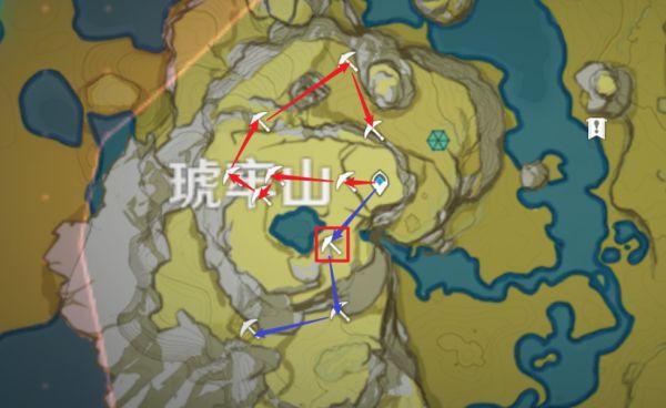 原神-鍾離突破材料採集路線規劃 7