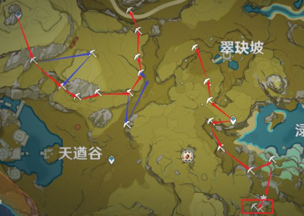 原神-鍾離突破材料採集路線規劃 9