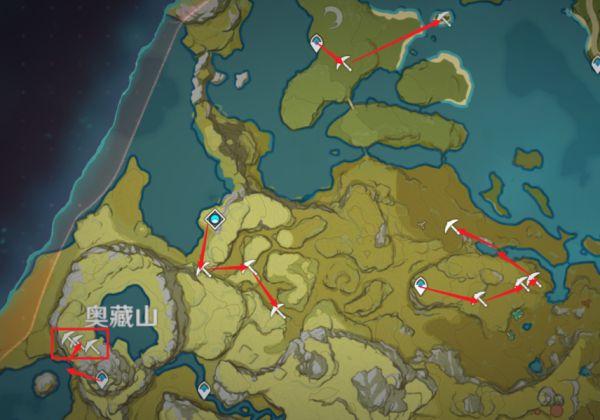 原神-鍾離突破材料採集路線規劃 13