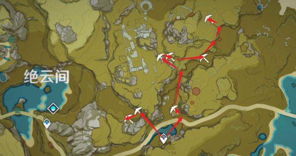 原神-鍾離突破材料採集路線規劃 15