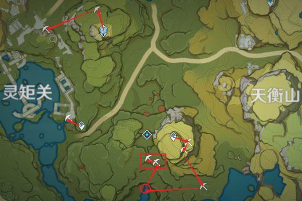 原神-鍾離突破材料採集路線規劃 17