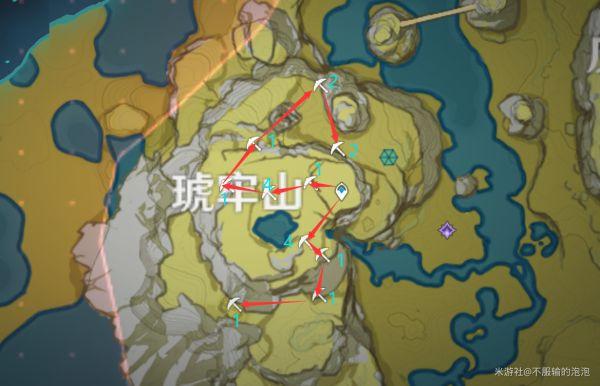 原神-高效採集石珀路線 1