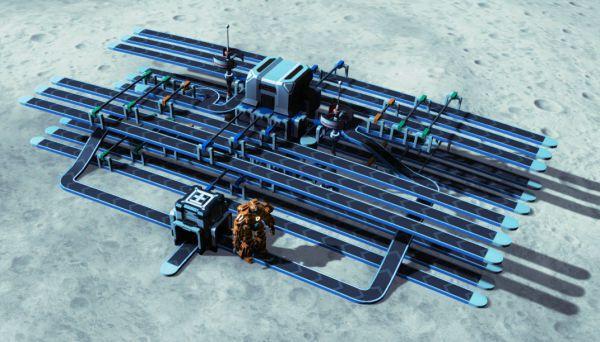 戴森球計劃-雙層四路混帶投料器佈局