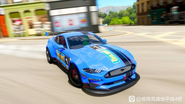 極限競速地平線4-野馬藍色塗裝 3