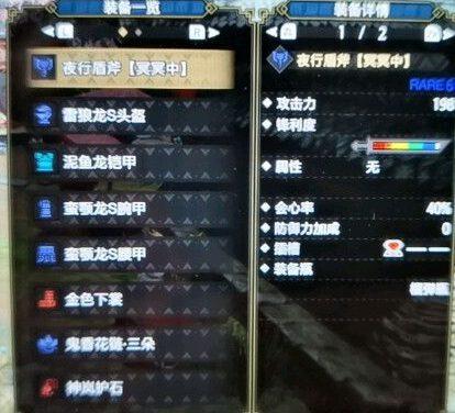 魔物獵人崛起-新手盾斧攻6防6配裝