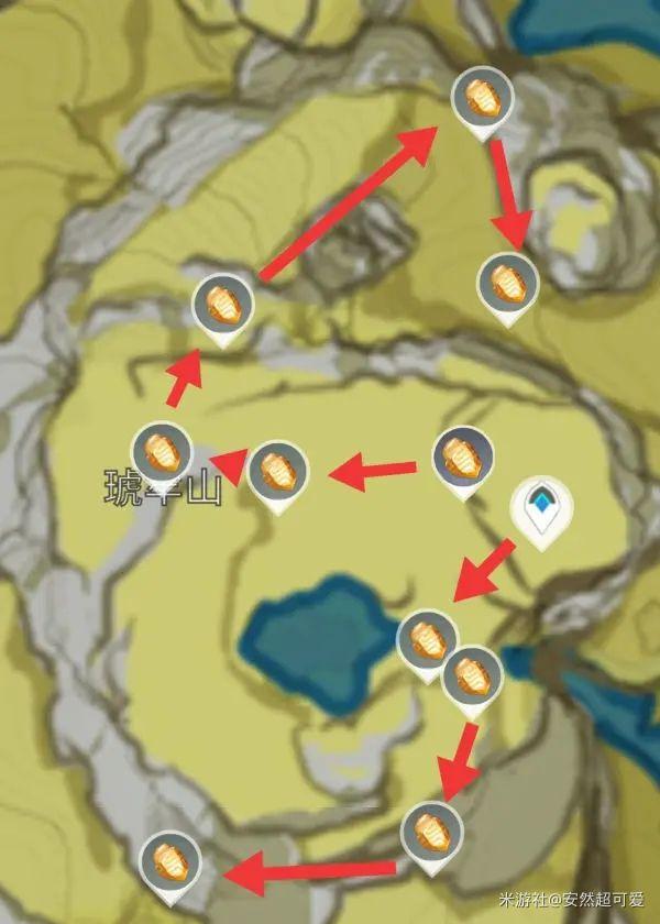 原神-石珀作用與快速採集路線 3