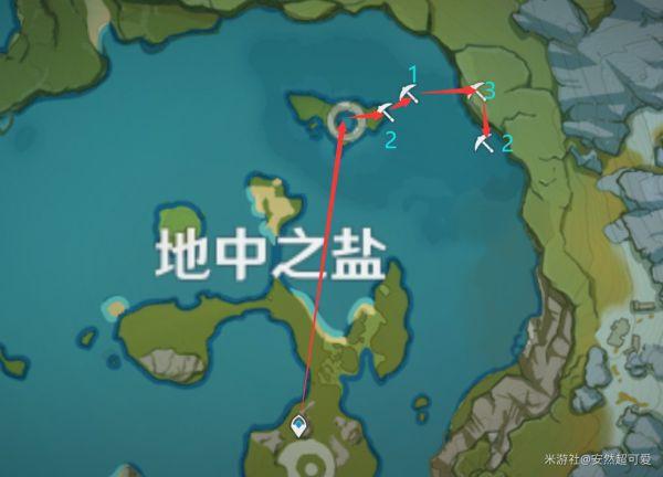 原神-石珀作用與快速採集路線 21