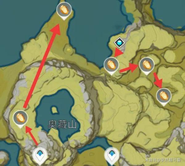 原神-石珀作用與快速採集路線 5