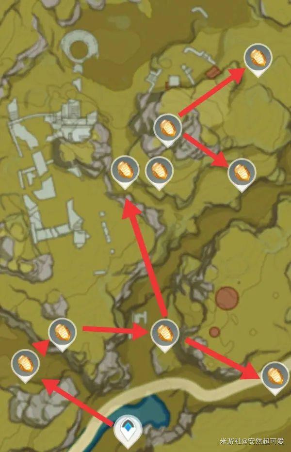 原神-石珀作用與快速採集路線 9