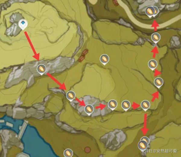 原神-石珀作用與快速採集路線 11