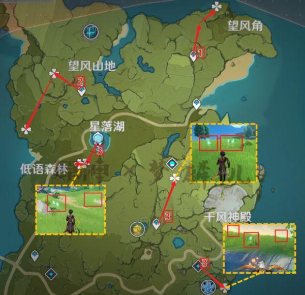 原神-蒲公英採集地點與路線規劃 5