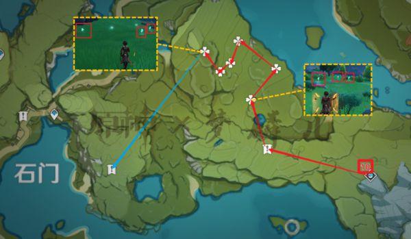 原神-蒲公英採集地點與路線規劃 1