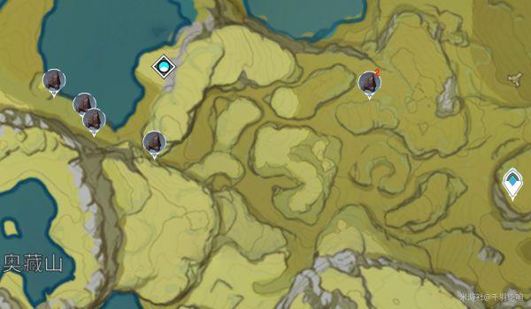 原神-鐵塊採集點位標注 39
