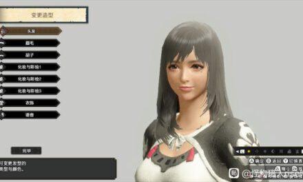 魔物獵人崛起-銀發女角色捏臉數據