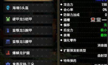 魔物獵人崛起-2.0版怨虎龍輕弩畢業配裝